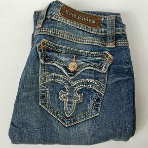Rock Revival   Debbie Straight Embellished Jeans